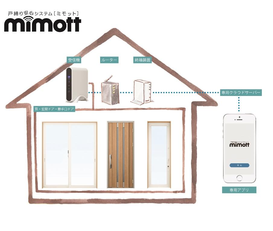 毎日のお出かけの際の窓・ドアのカギの締め忘れを防止する、 戸締り安心システム「ミモット」を発売/YKK AP