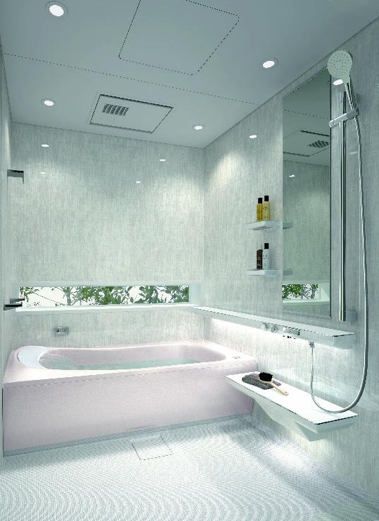 戸建向けシステムバスルーム/マンションリモデルバスルーム『SYNLA(シンラ)』 空間を引き立たせる新色の壁柄が登場/TOTO
