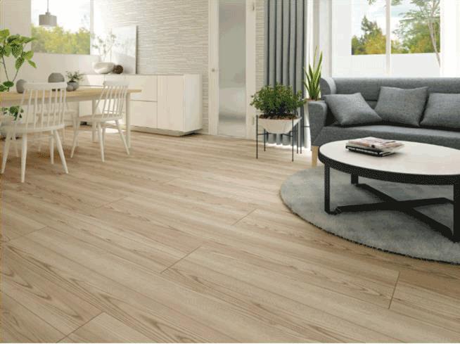 調湿機能を持つ内装材、屋内床としても SOLIDO typeF shirasuを発売/ケイミュー